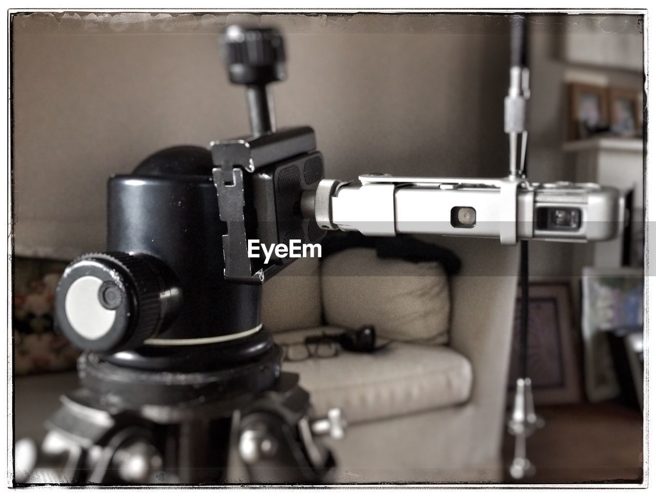 technology, sewing machine, indoors, machinery, close-up, no people, recording studio, camera - photographic equipment, film industry, day