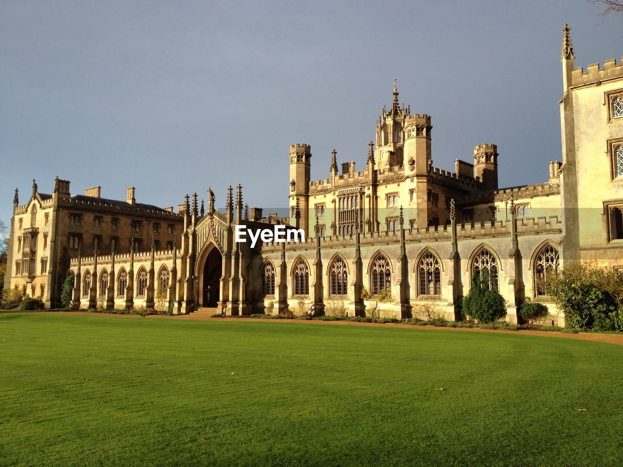 Exterior of st john college against clear sky
