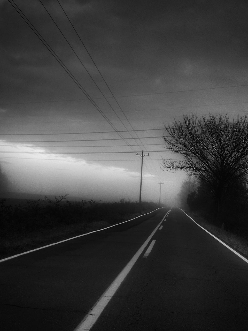 road, cable, transportation, sky, the way forward, power line, tree, no people, connection, nature, day, outdoors, landscape, scenics, tranquility, electricity pylon