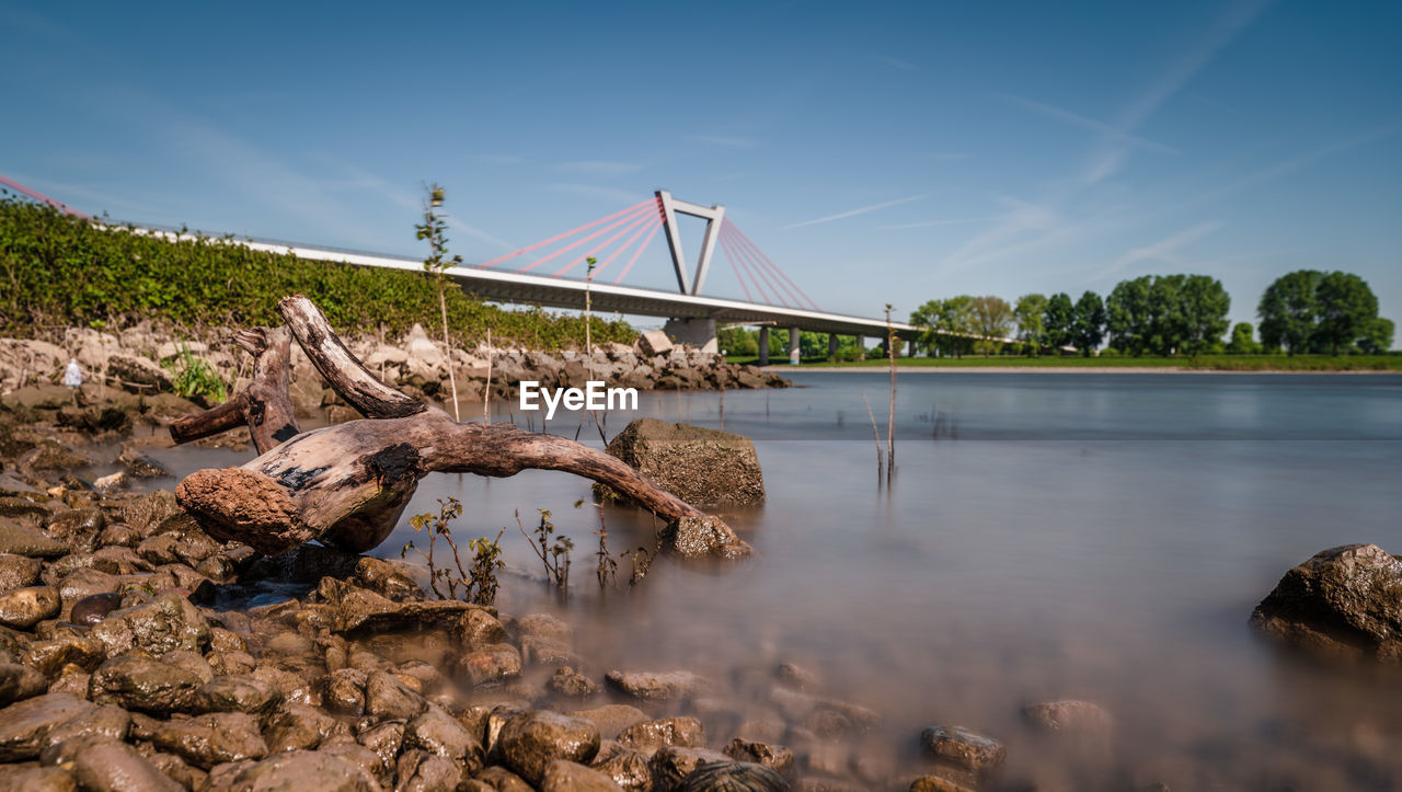 water, sky, nature, bridge - man made structure, bridge, solid, plant, tree, connection, day, rock, rock - object, tranquility, no people, reflection, scenics - nature, beauty in nature, river, outdoors