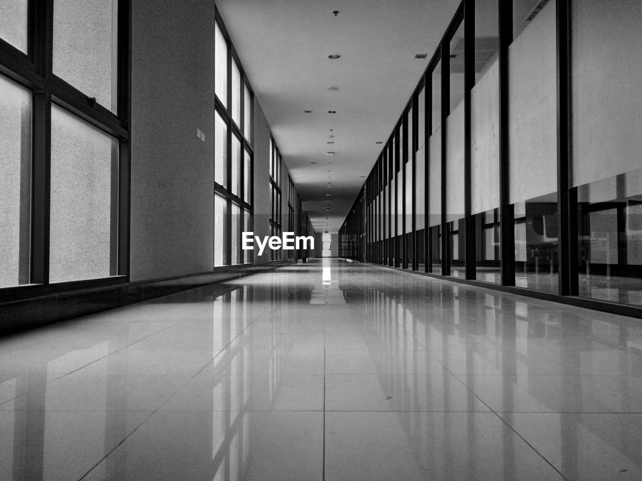 Empty Corridor In School Building