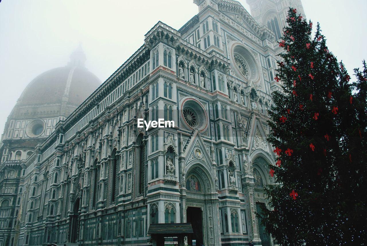 Low Angle View Of Duomo Santa Maria Del Fiore In Foggy Weather