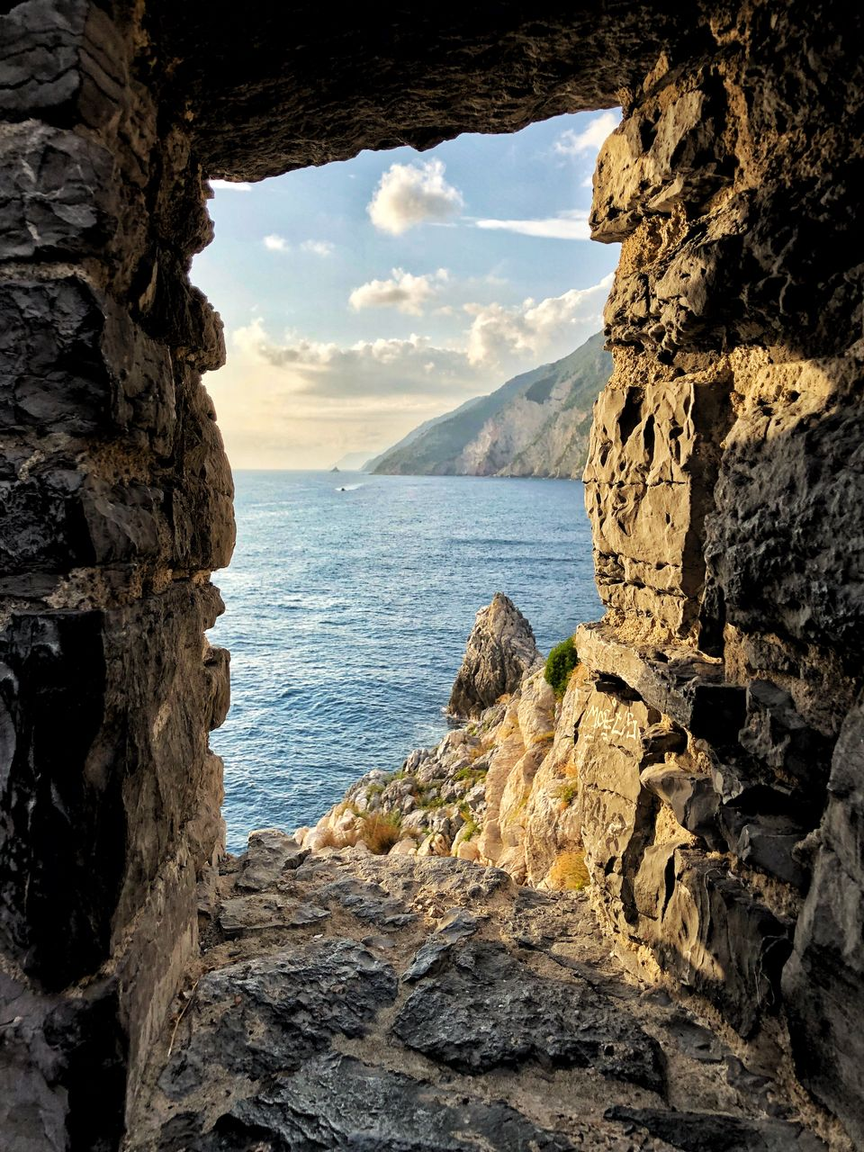 rock, sea, water, sky, rock - object, solid, beauty in nature, scenics - nature, rock formation, nature, cloud - sky, tranquility, tranquil scene, mountain, day, no people, land, outdoors, non-urban scene, bay, formation