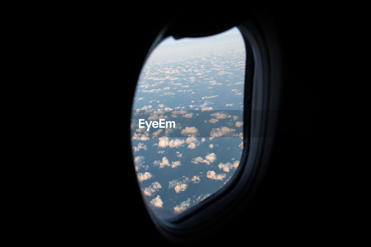 Clouds Seen Through Airplane Window