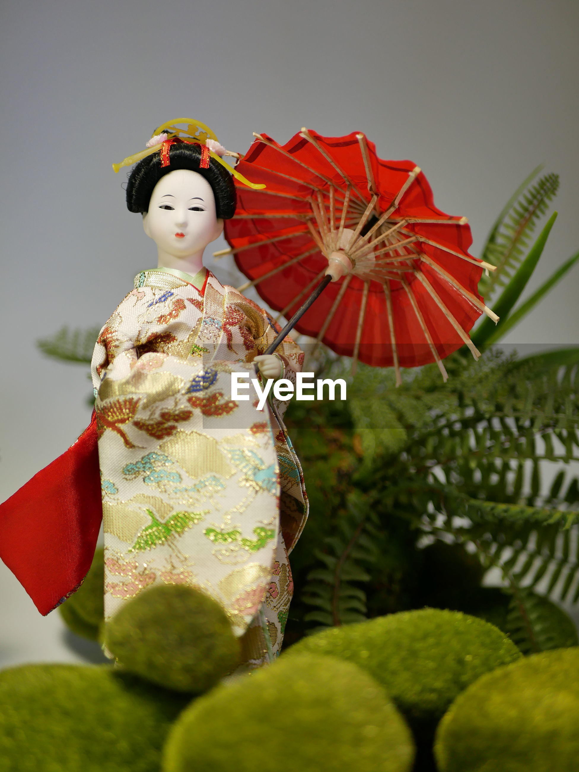 Close-up of statue japanese doll