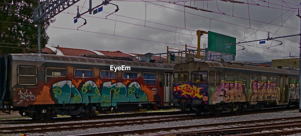 RAILROAD TRACKS AT RAILROAD STATION