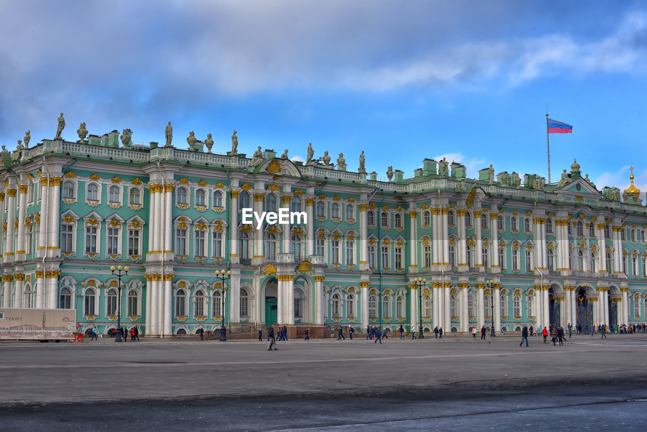 FACADE OF HISTORICAL BUILDING AGAINST SKY