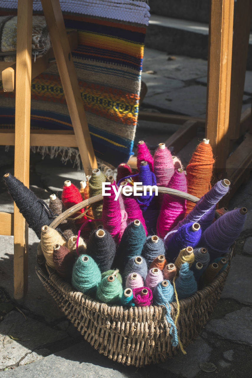 art and craft, creativity, multi colored, no people, large group of objects, representation, craft, day, variation, choice, for sale, still life, human representation, container, close-up, indoors, toy, wood - material, textile