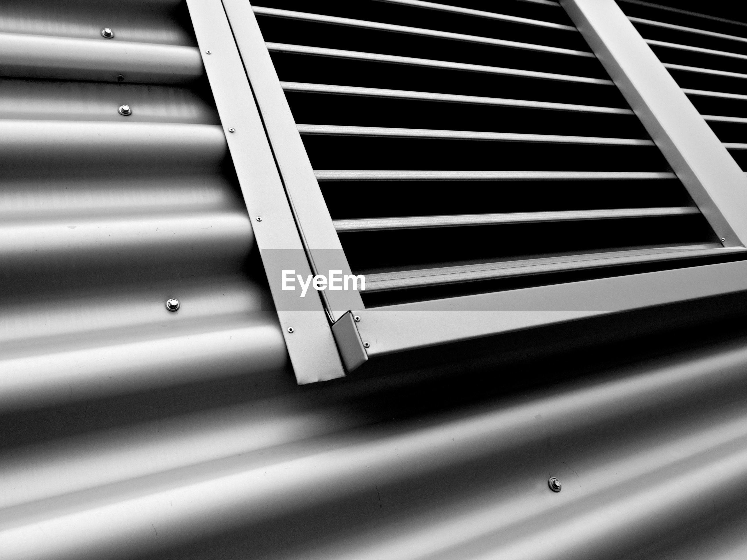 Close-up of metal window