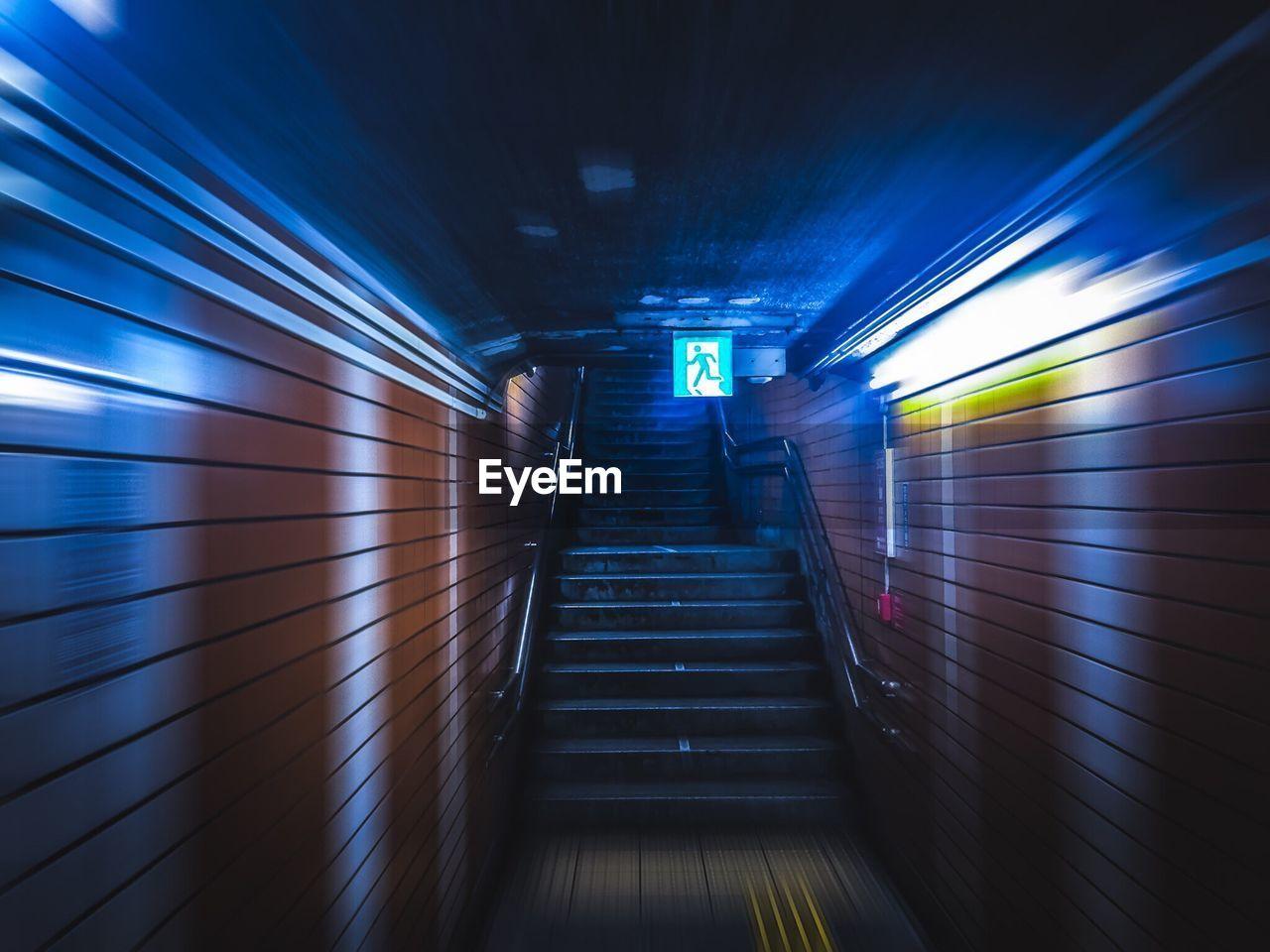 Empty Steps At Underground Tunnel