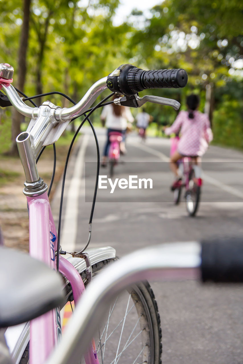 VIEW OF BICYCLE ON STREET