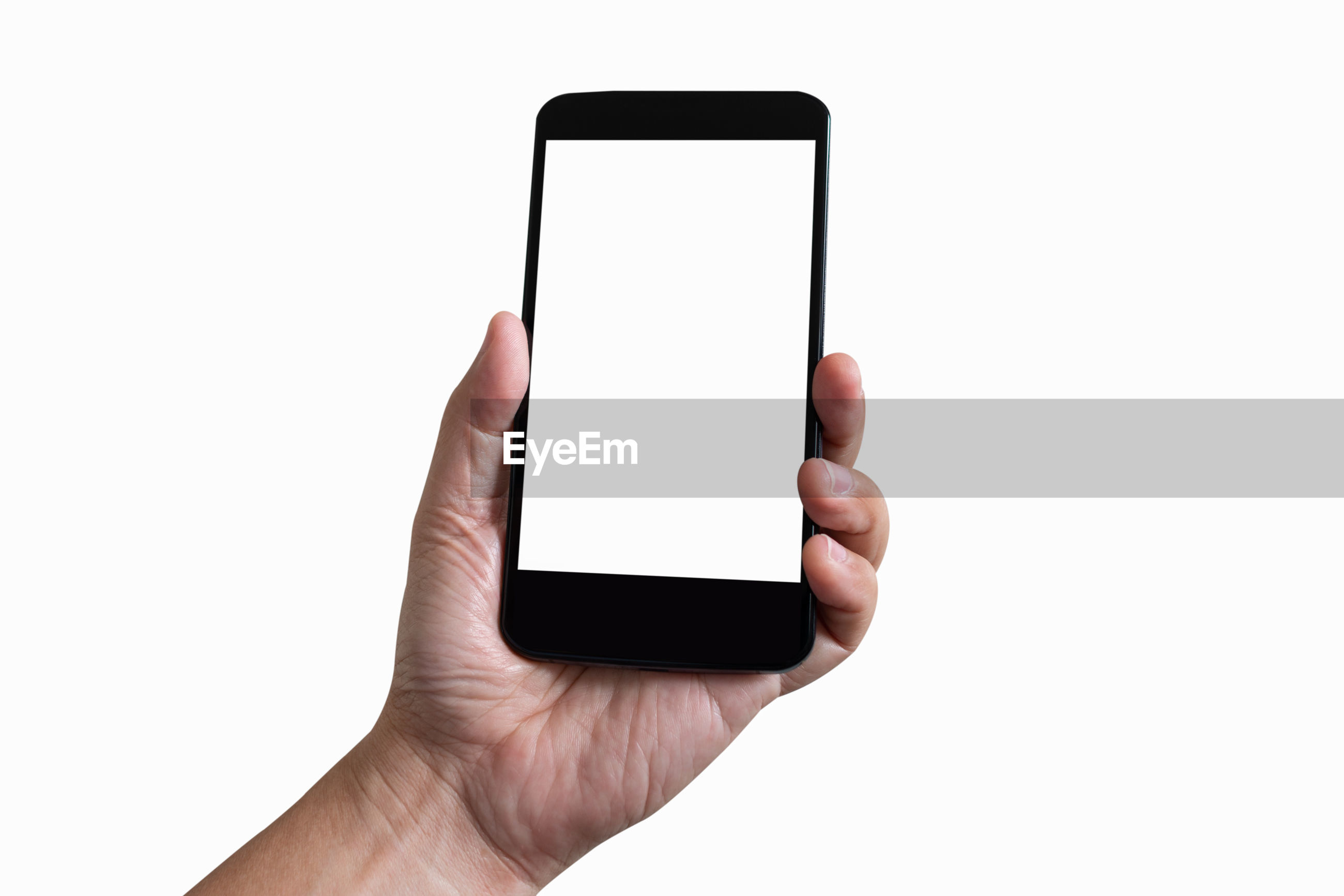 MIDSECTION OF PERSON USING MOBILE PHONE