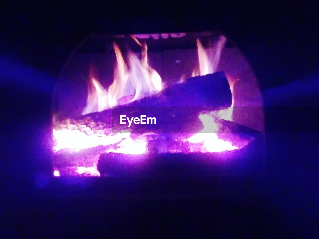 night, glowing, heat - temperature, illuminated, burning, no people, indoors, flame, close-up, nature