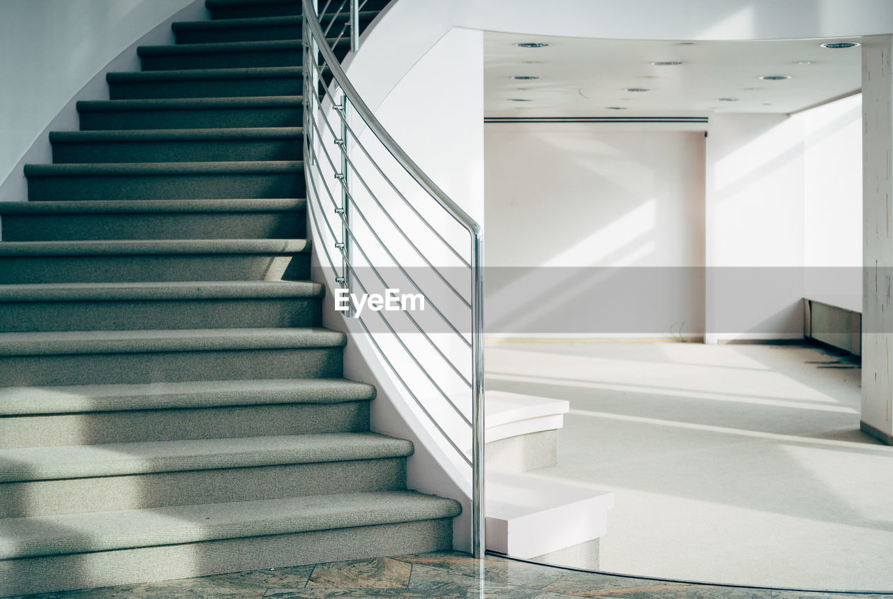 Empty staircase at home