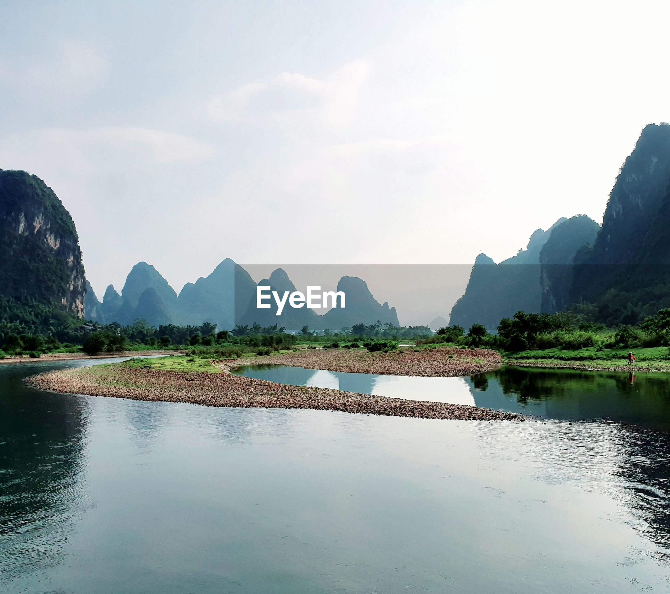 Rolling hills of guilin in china.