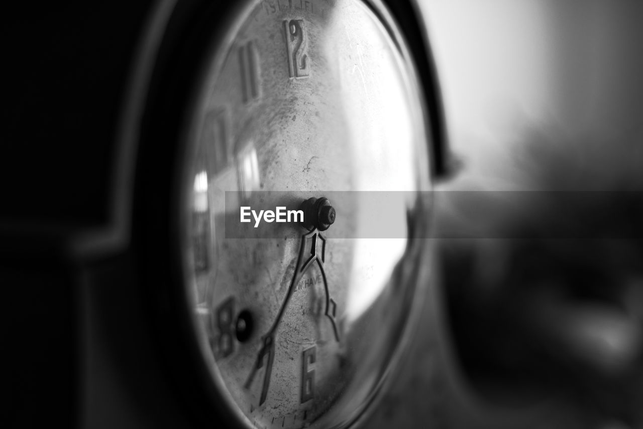 Close-up view of clock