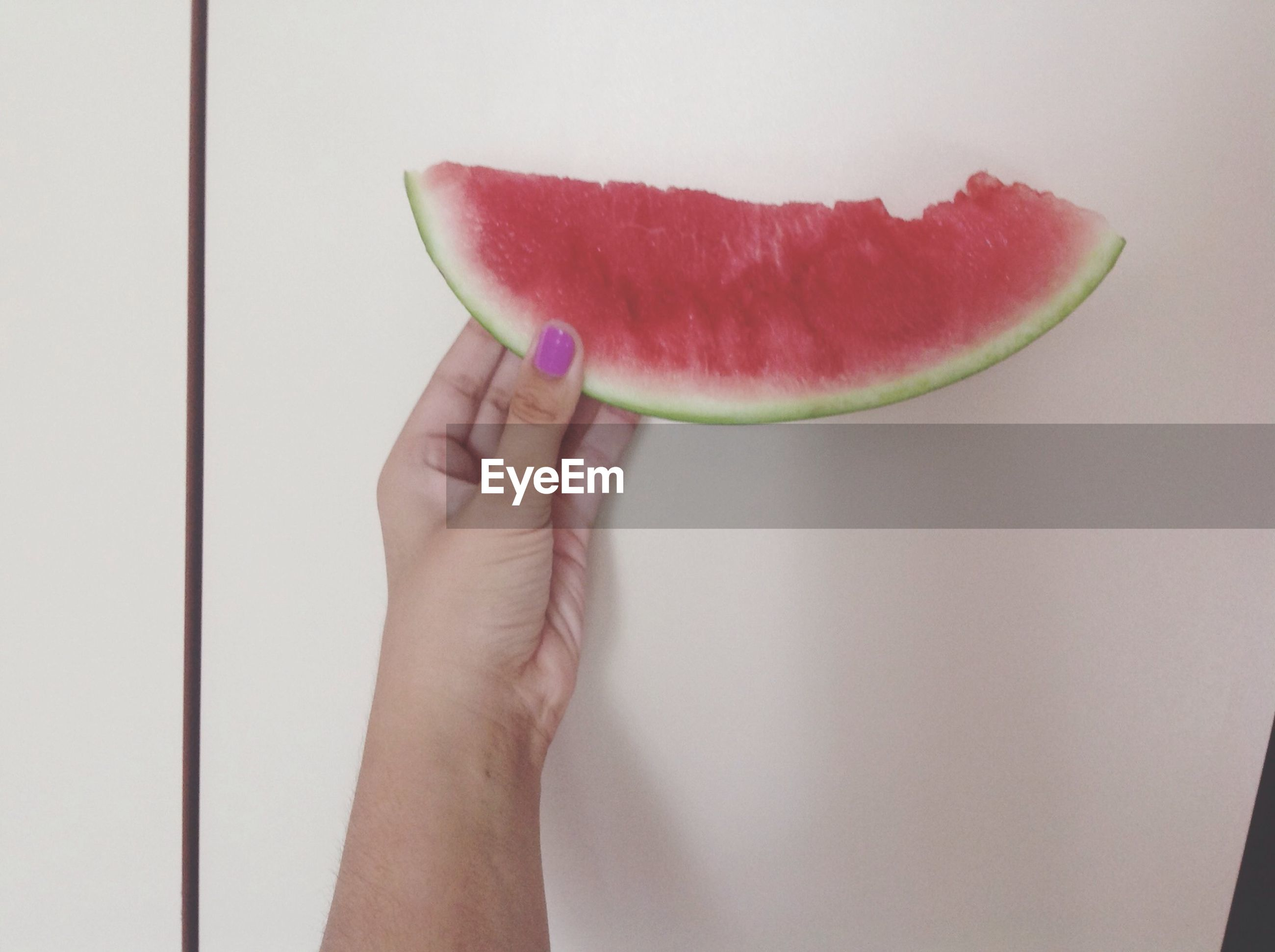 person, food and drink, holding, part of, cropped, freshness, food, indoors, red, fruit, close-up, healthy eating, personal perspective, lifestyles, human finger, unrecognizable person