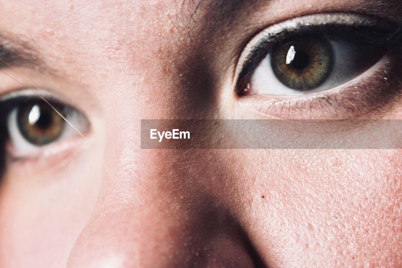 human body part, eye, body part, portrait, close-up, young adult, human face, human eye, looking at camera, one person, eyesight, eyebrow, eyelash, young women, adult, human skin, women, skin, eyeball, beautiful woman, iris - eye, contemplation
