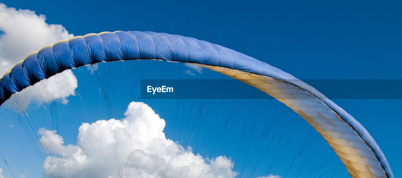 Low Angle View Of Parachute Against Sky
