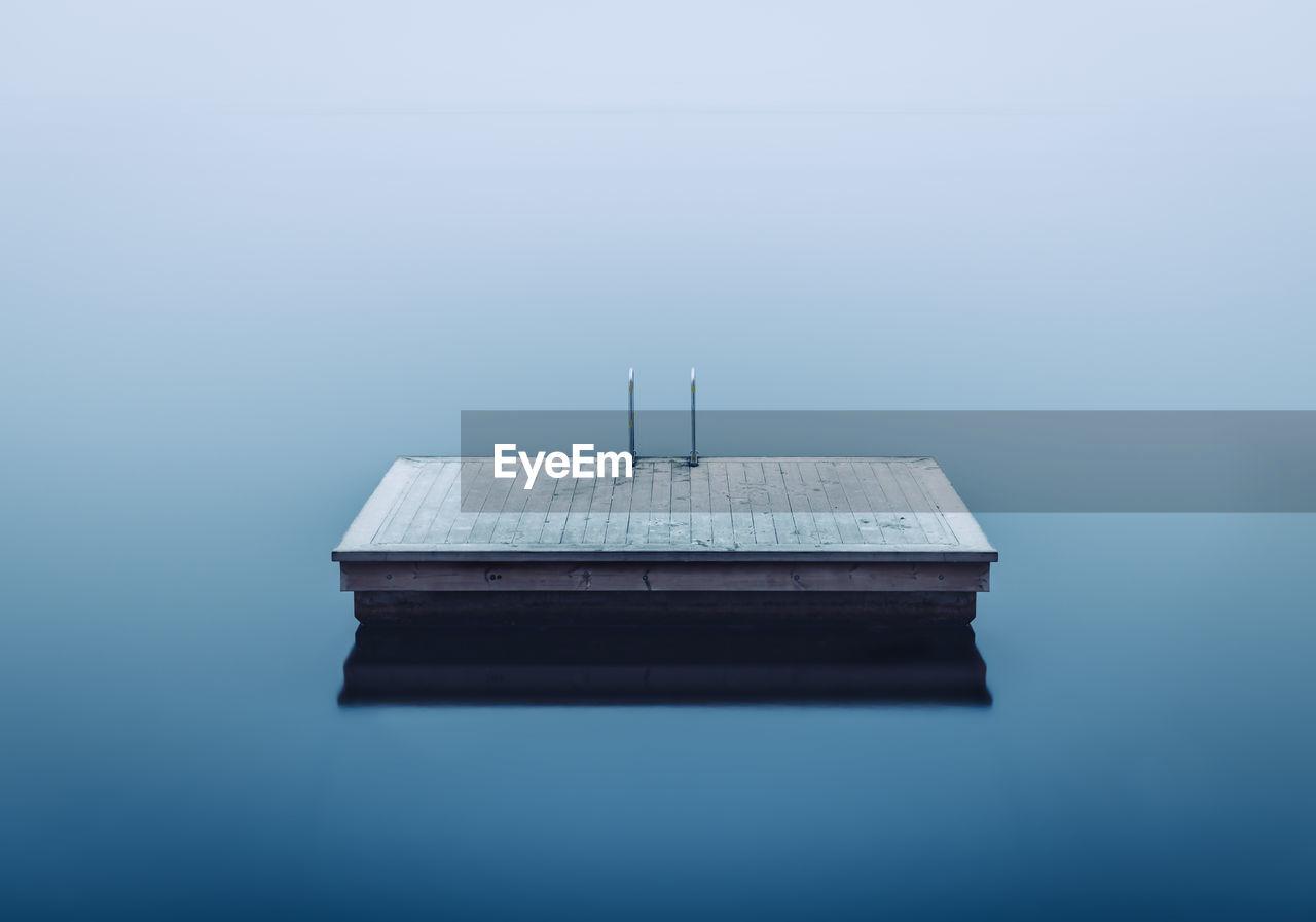 Offshore Platform On Lake