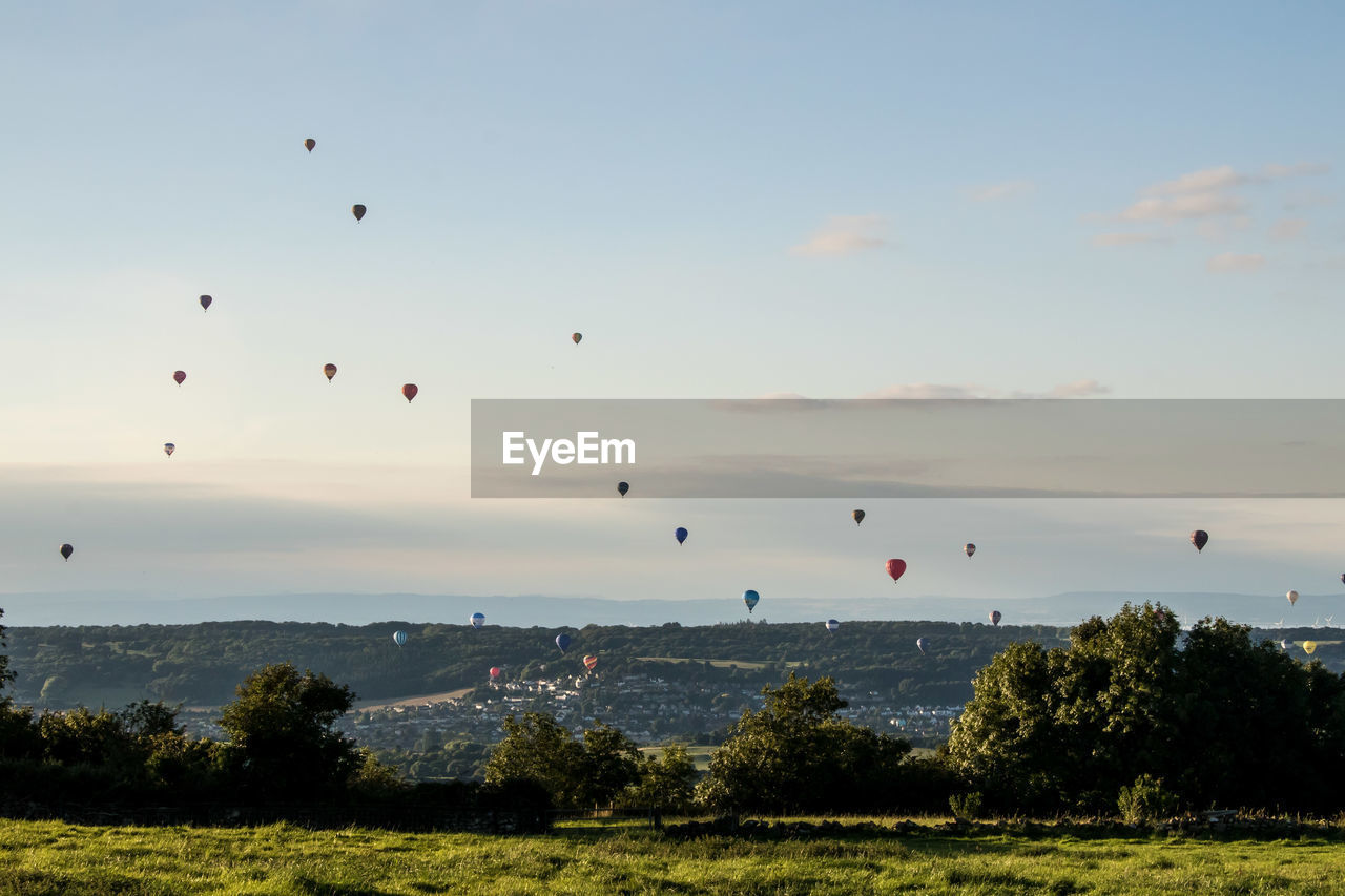 Scenic View Of Bristol International Balloon Fiesta Against Sky