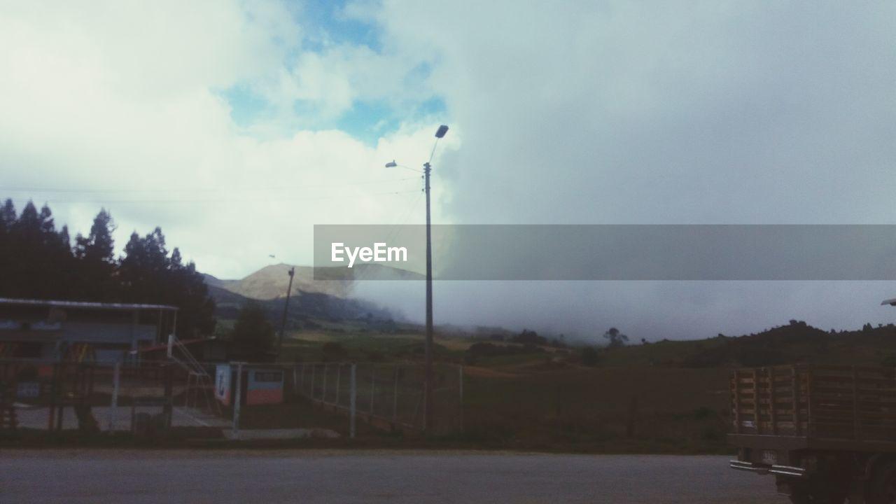 sky, cloud - sky, no people, outdoors, flag, day, tree, nature
