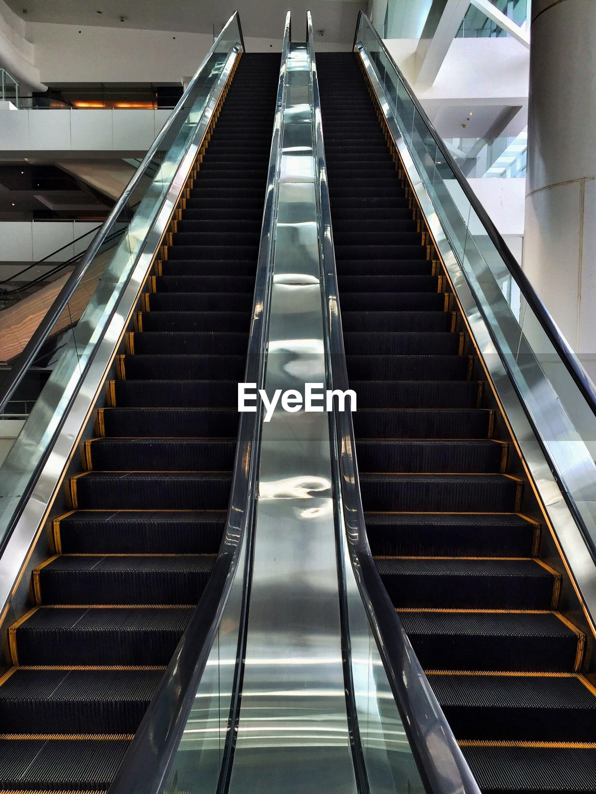 Escalators in modern building