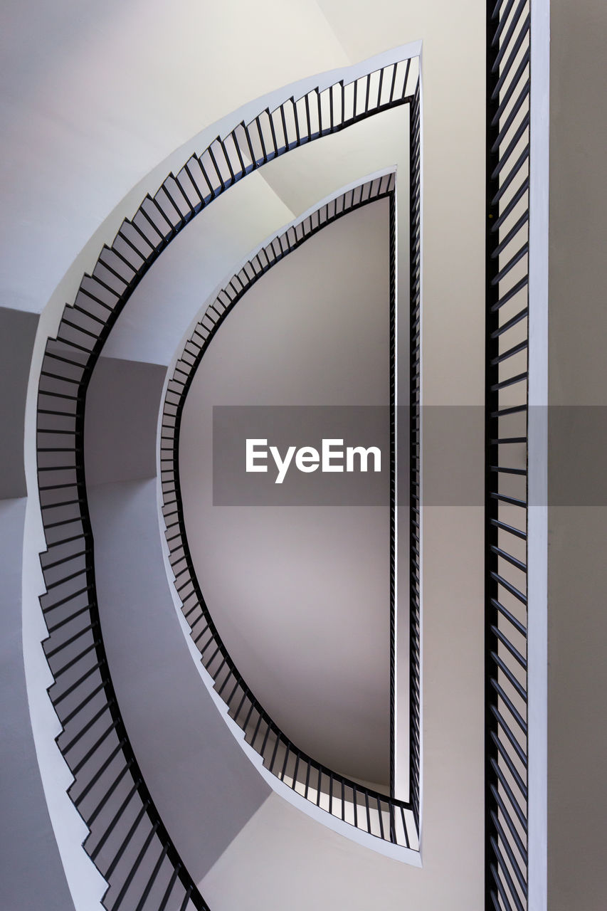 spiral, staircase, steps and staircases, railing, architecture, steps, spiral stairs, built structure, no people, spiral staircase, indoors, close-up, day