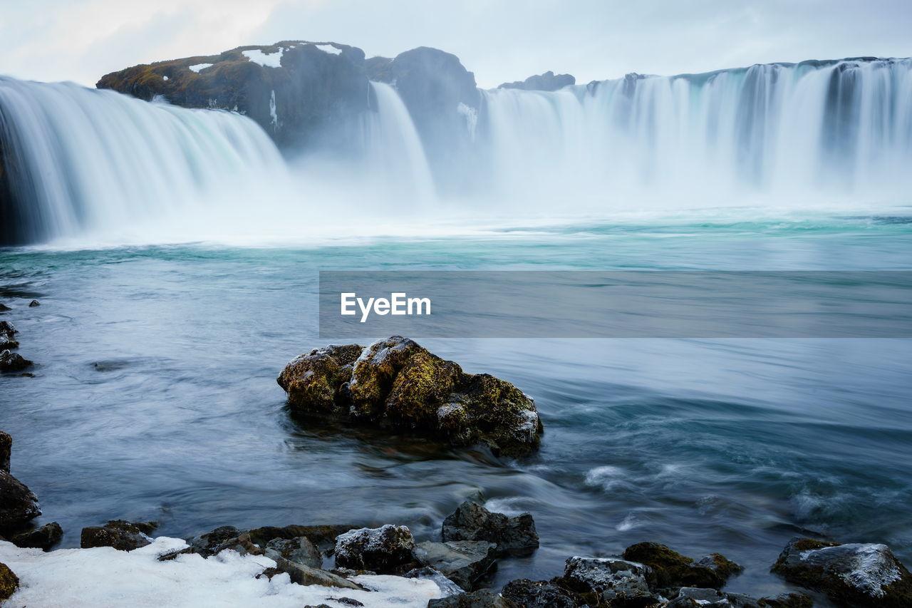 Scenic View Of Godafoss Waterfall