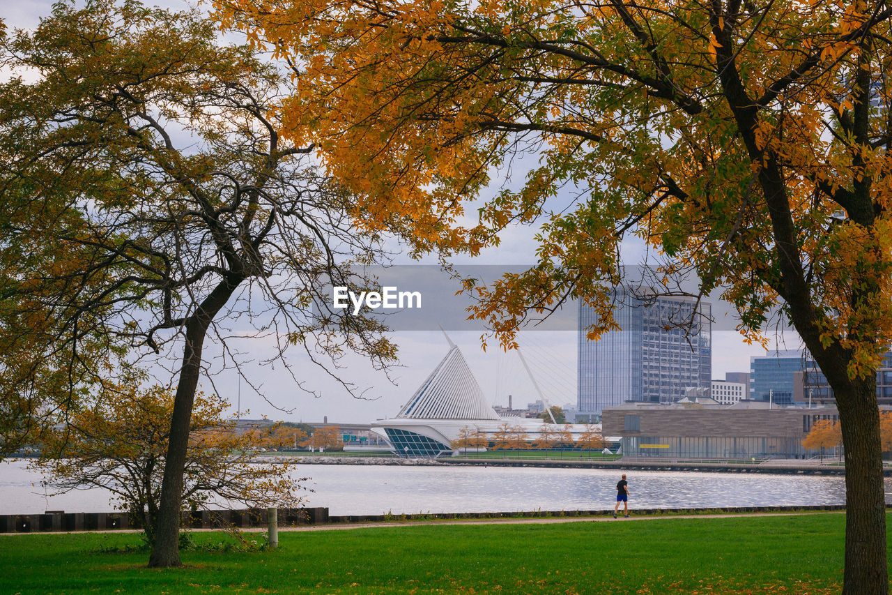 plant, tree, architecture, built structure, building exterior, nature, water, grass, autumn, day, growth, change, travel destinations, sky, park, incidental people, travel, outdoors, river