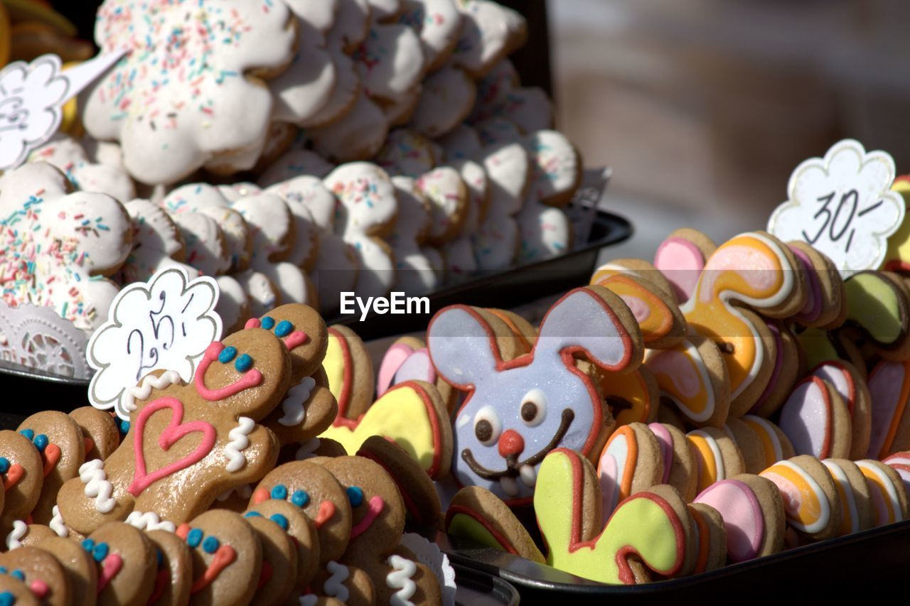 Close-Up Of Cookies For Sale In Shop
