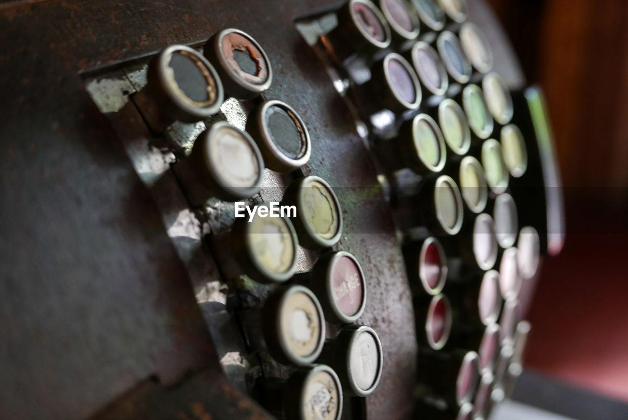 Close-Up Of Old Cash Register