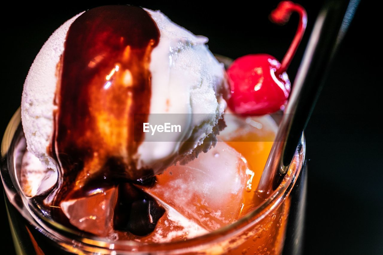 food and drink, close-up, freshness, food, cold temperature, drink, frozen, indoors, refreshment, no people, glass, kitchen utensil, ready-to-eat, sweet food, still life, household equipment, drinking glass, sweet, red, dessert, ice, temptation