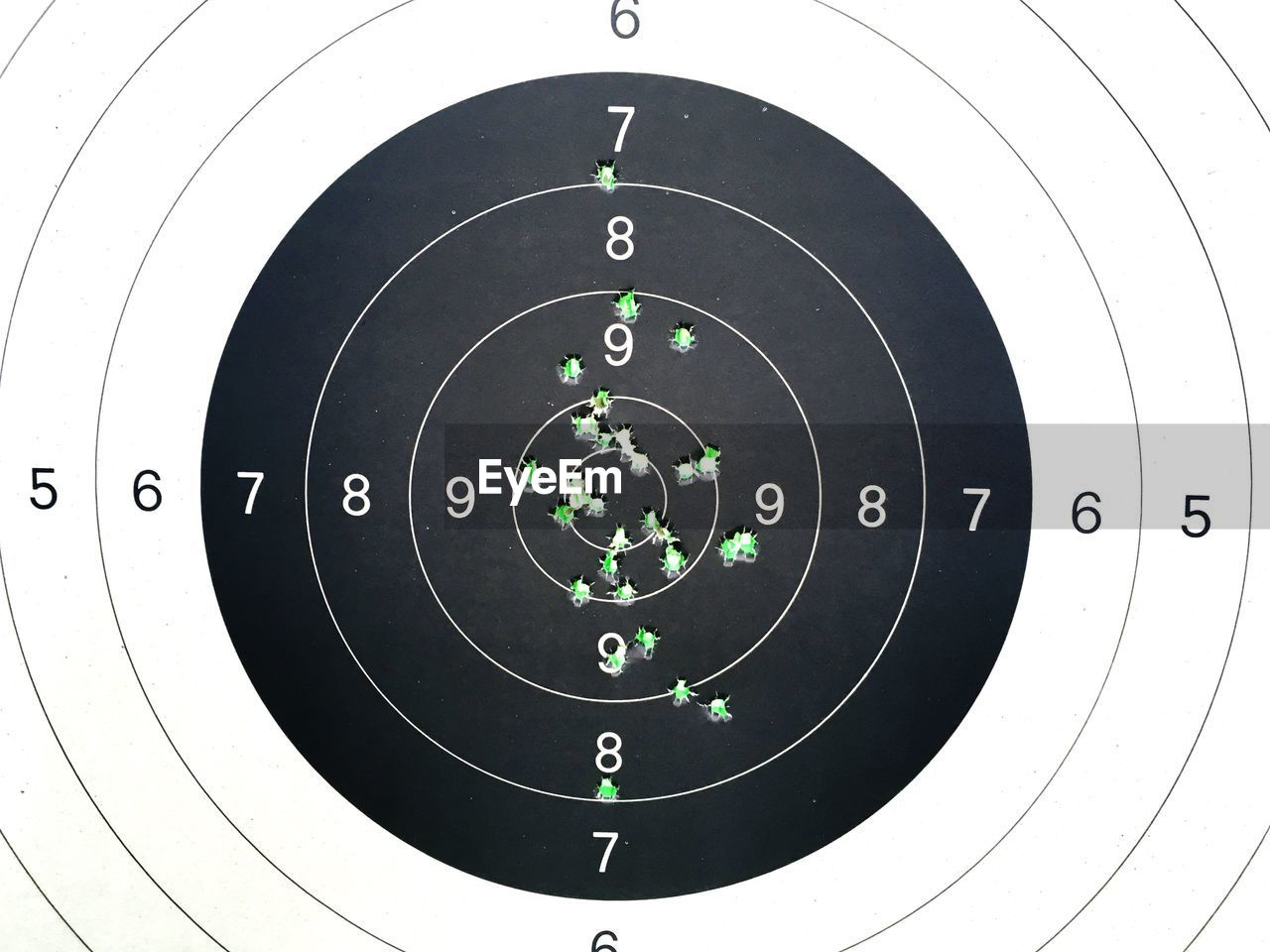 sports target, sport, aiming, weapon, accuracy, gun, bullet, practicing, no people, competition, close-up, day, outdoors