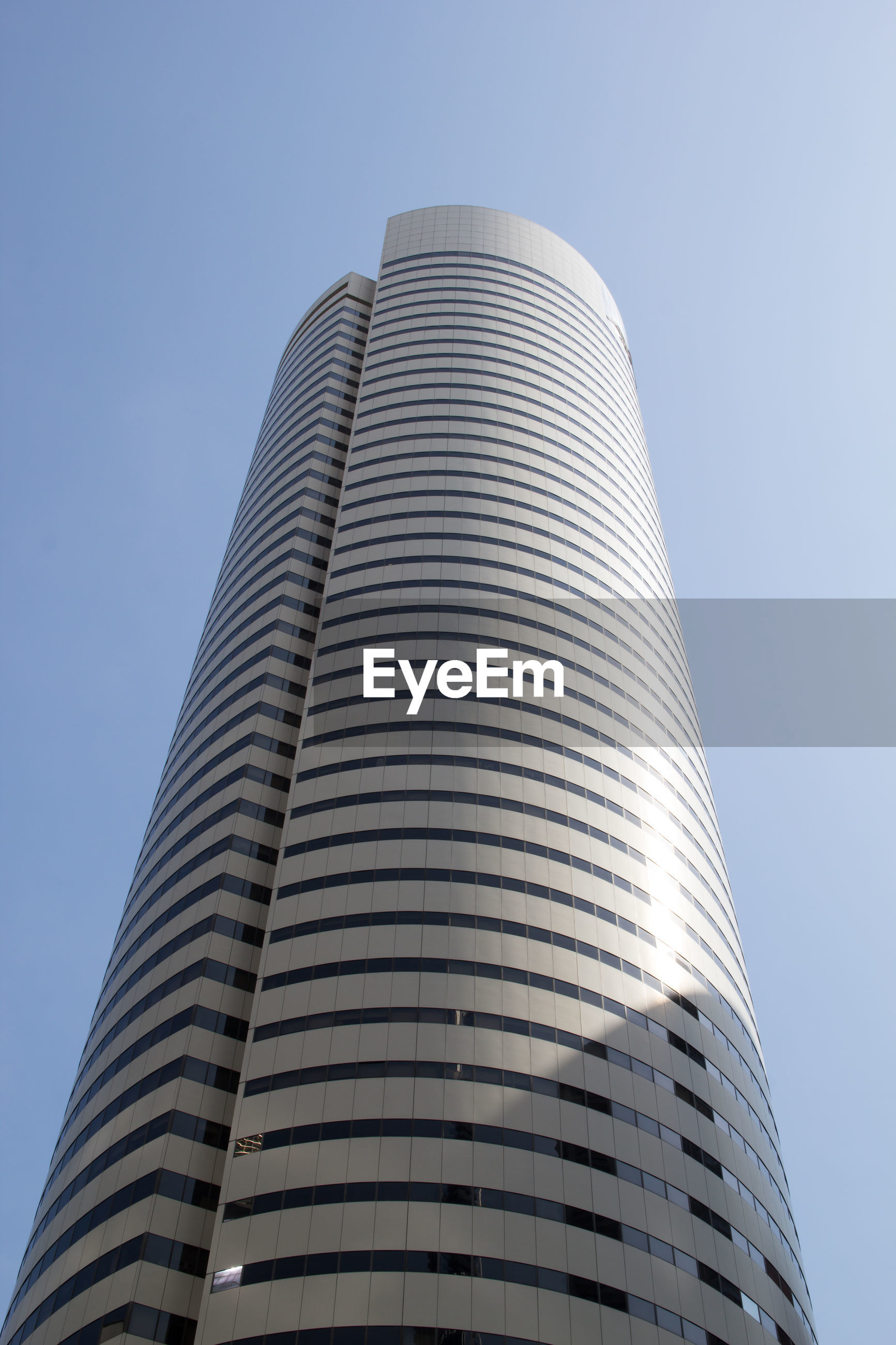 Low angle view of modern building against sky
