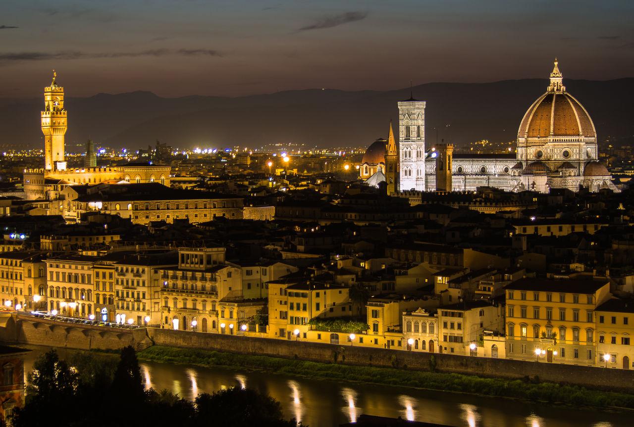 Illuminated Duomo Santa Maria Del Fiore Against Sky