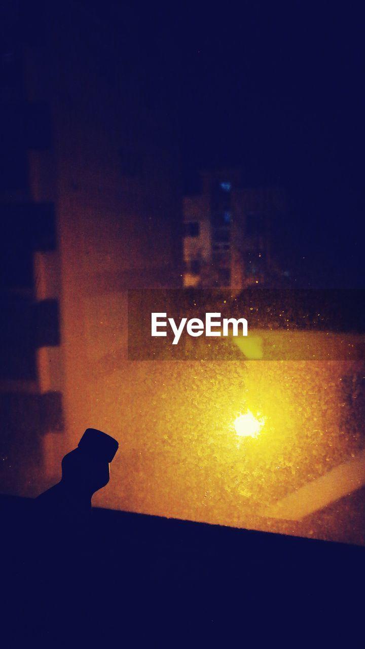 View Of Illuminated Sky At Night