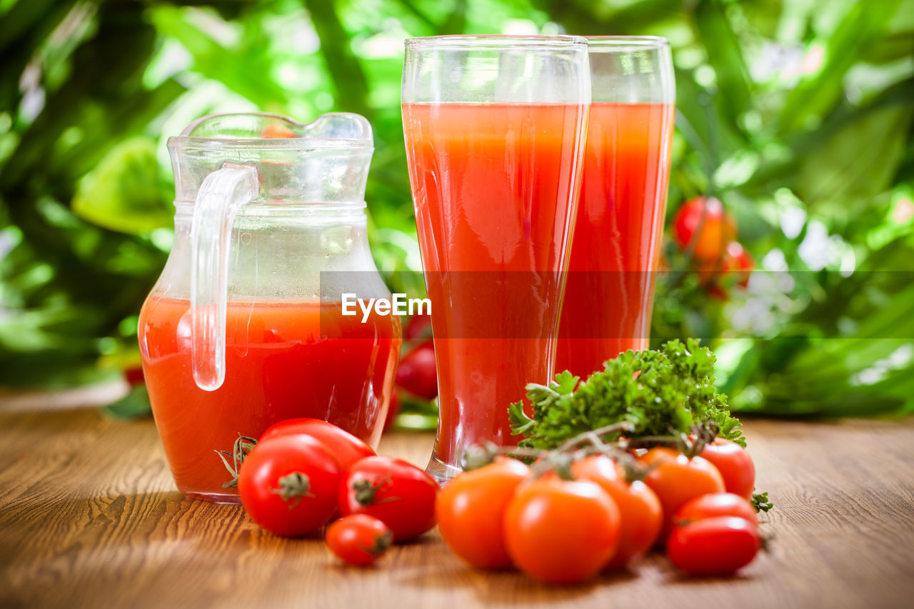 food and drink, food, drink, healthy eating, freshness, wellbeing, refreshment, table, vegetable, red, glass, glass - material, transparent, still life, drinking glass, fruit, no people, container, close-up, wood - material, herb, fruit juice