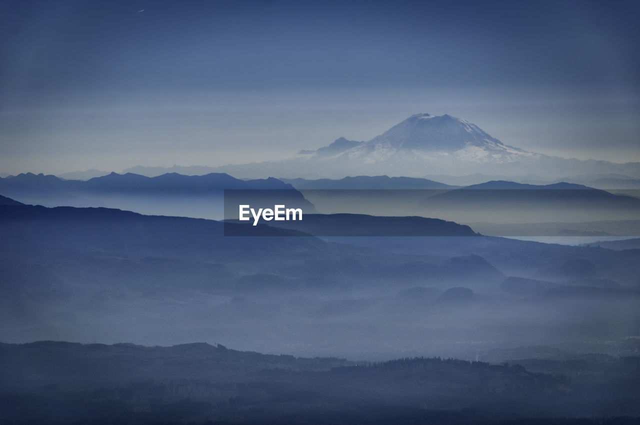 Scenic View Of Mount Baker Against Sky