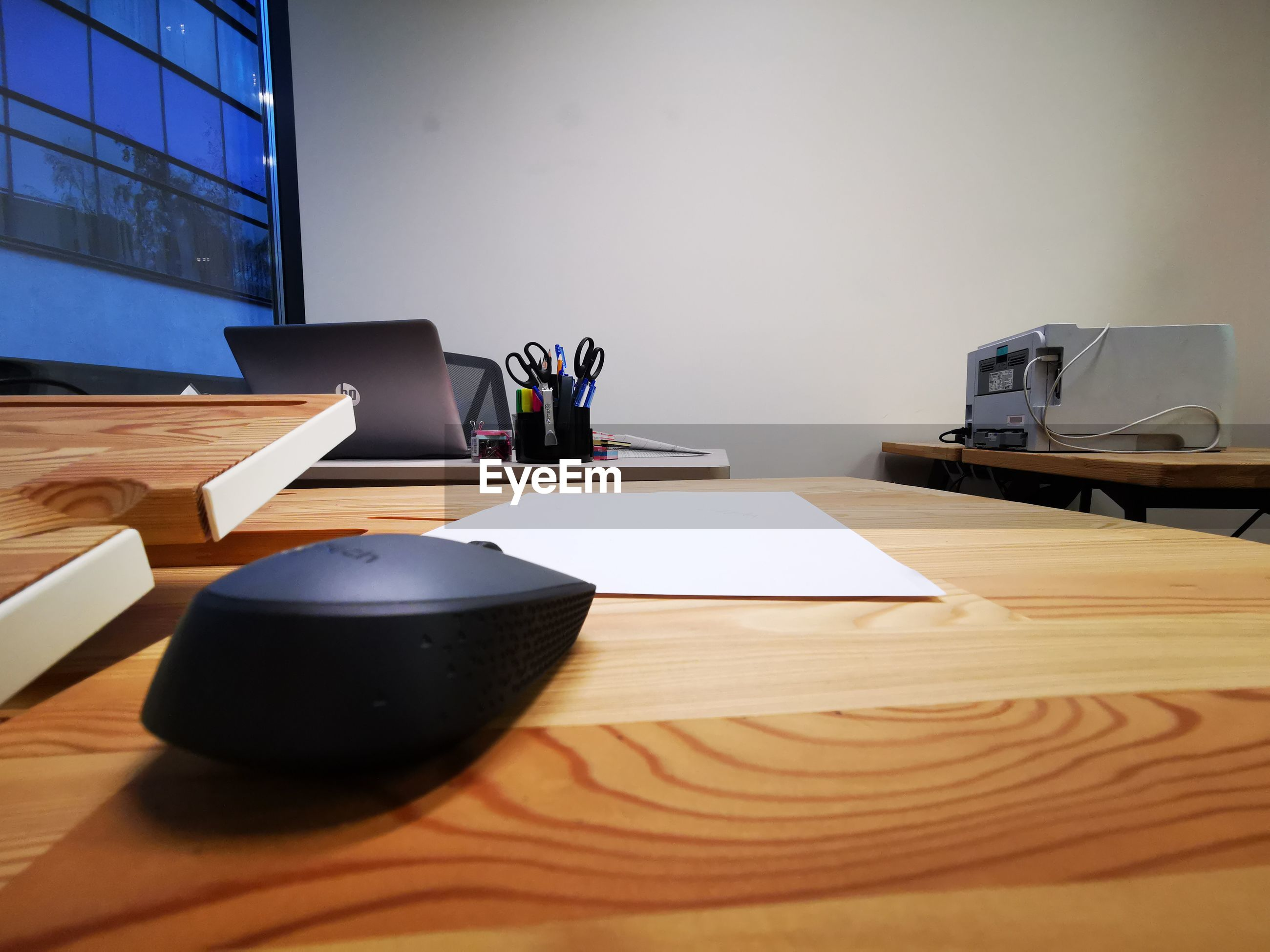 Computer mouse on table
