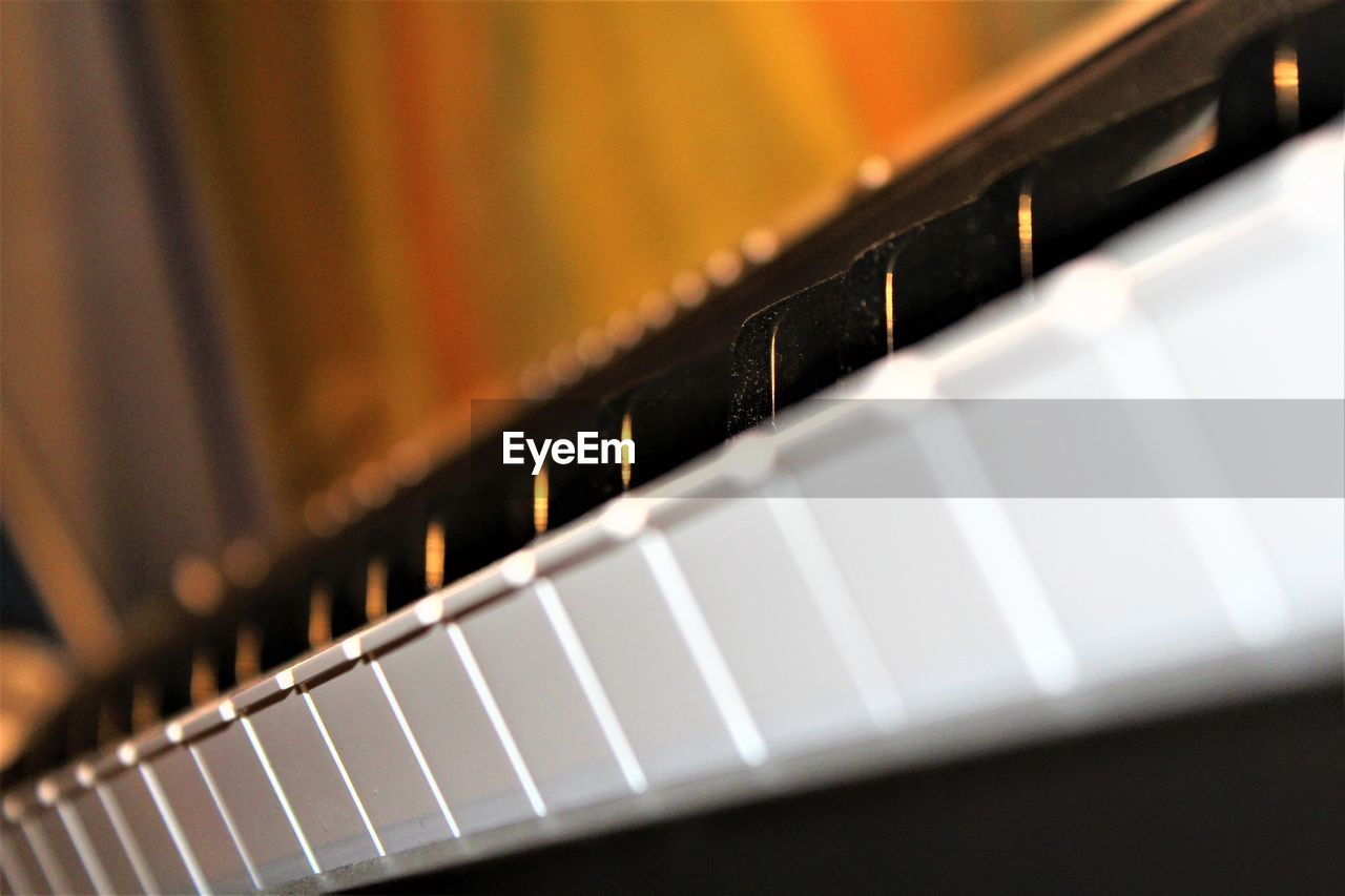 arts culture and entertainment, music, piano key, close-up, indoors, musical instrument, no people