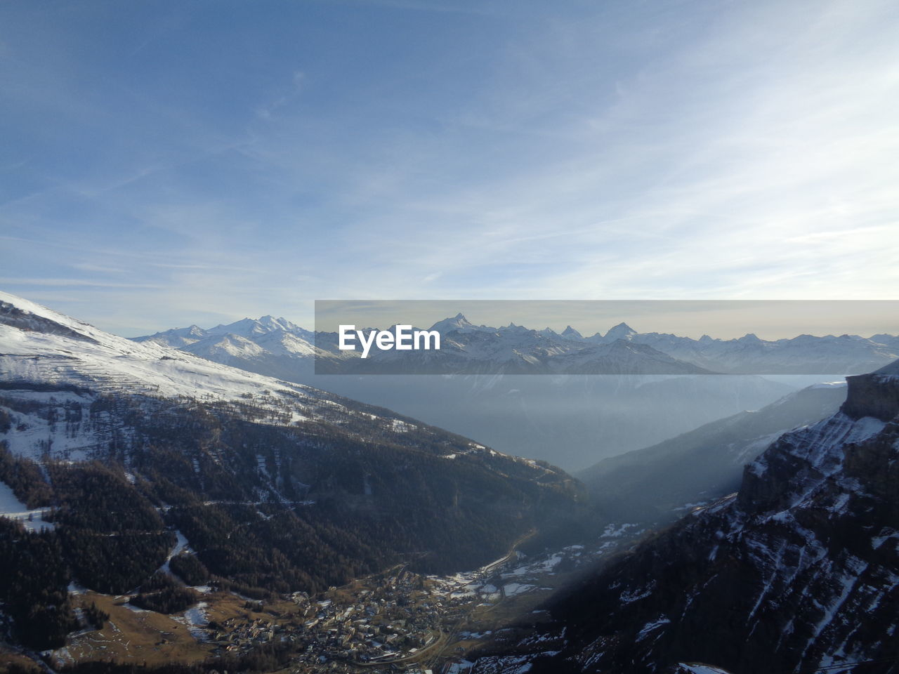 mountain, sky, scenics - nature, beauty in nature, environment, mountain range, landscape, snow, cold temperature, tranquil scene, tranquility, cloud - sky, winter, non-urban scene, nature, no people, snowcapped mountain, day, idyllic, mountain peak, outdoors, range