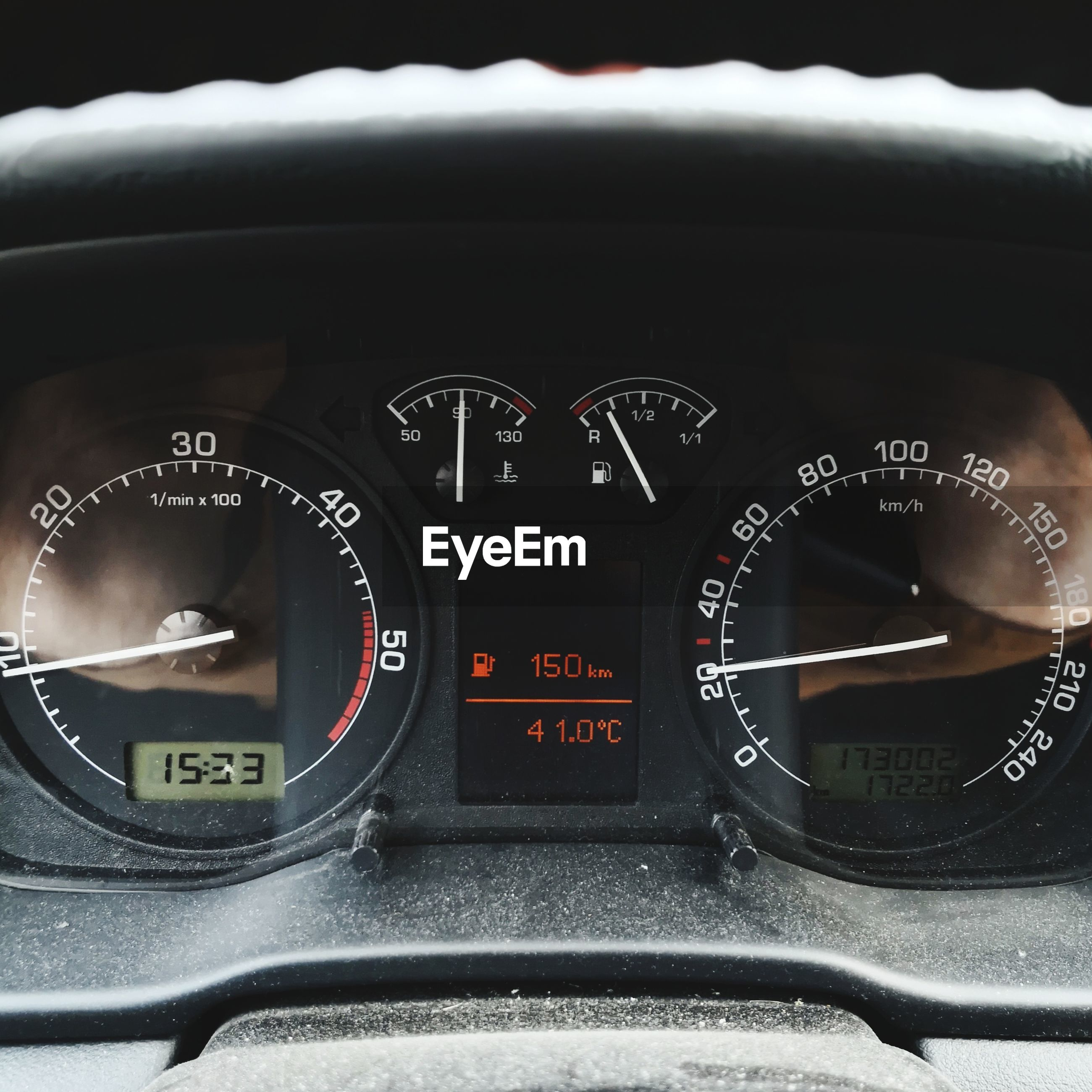 Close-up of dashboard