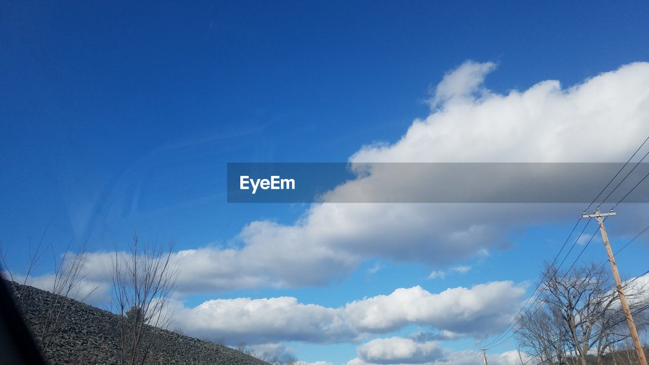 sky, blue, cloud - sky, low angle view, outdoors, no people, nature, day, tranquil scene, beauty in nature, scenics