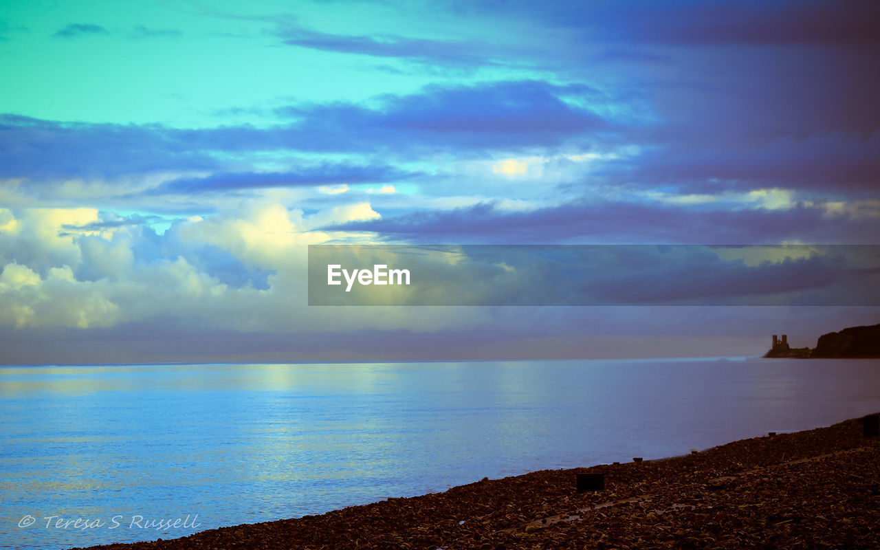 sea, sky, beauty in nature, scenics, horizon over water, nature, tranquil scene, cloud - sky, tranquility, water, idyllic, beach, no people, outdoors, day