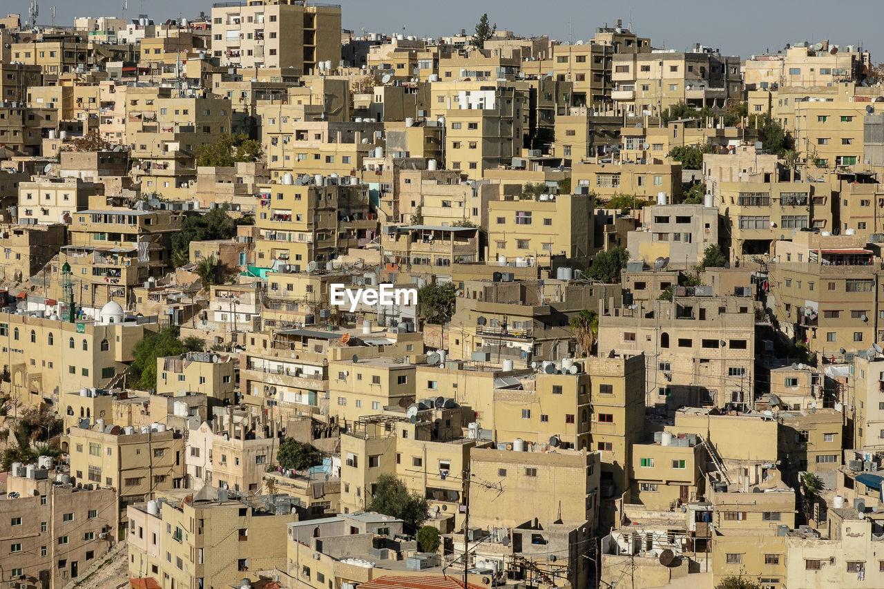 High angle view of a city jordan