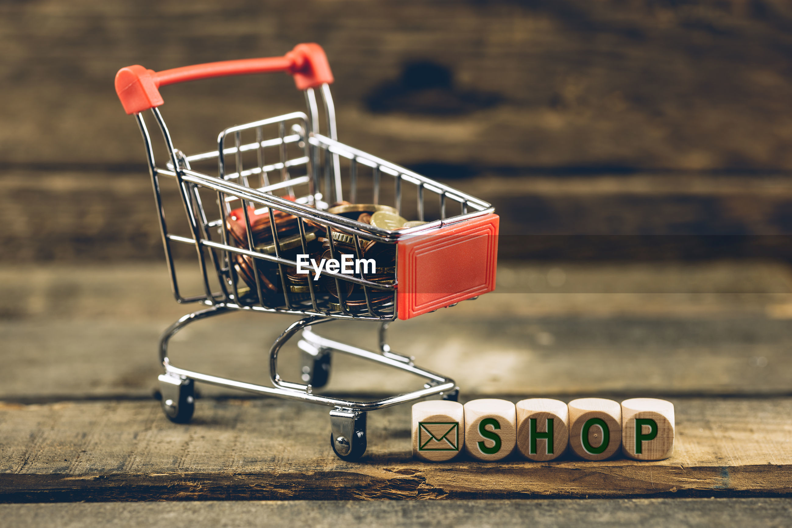 CLOSE-UP OF SHOPPING ON TABLE