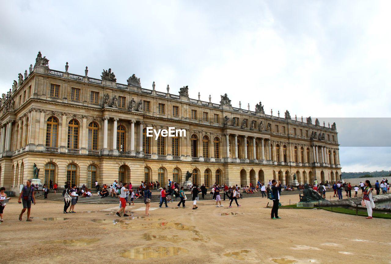 People In Front Of Versailles Castle
