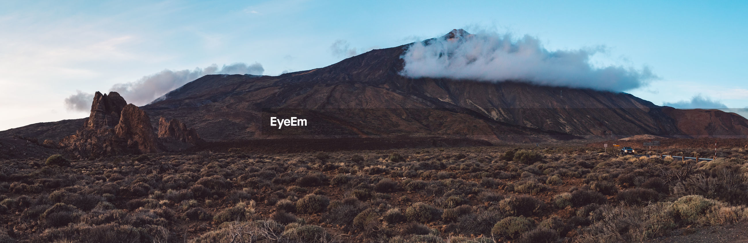 PANORAMIC VIEW OF ARID LANDSCAPE