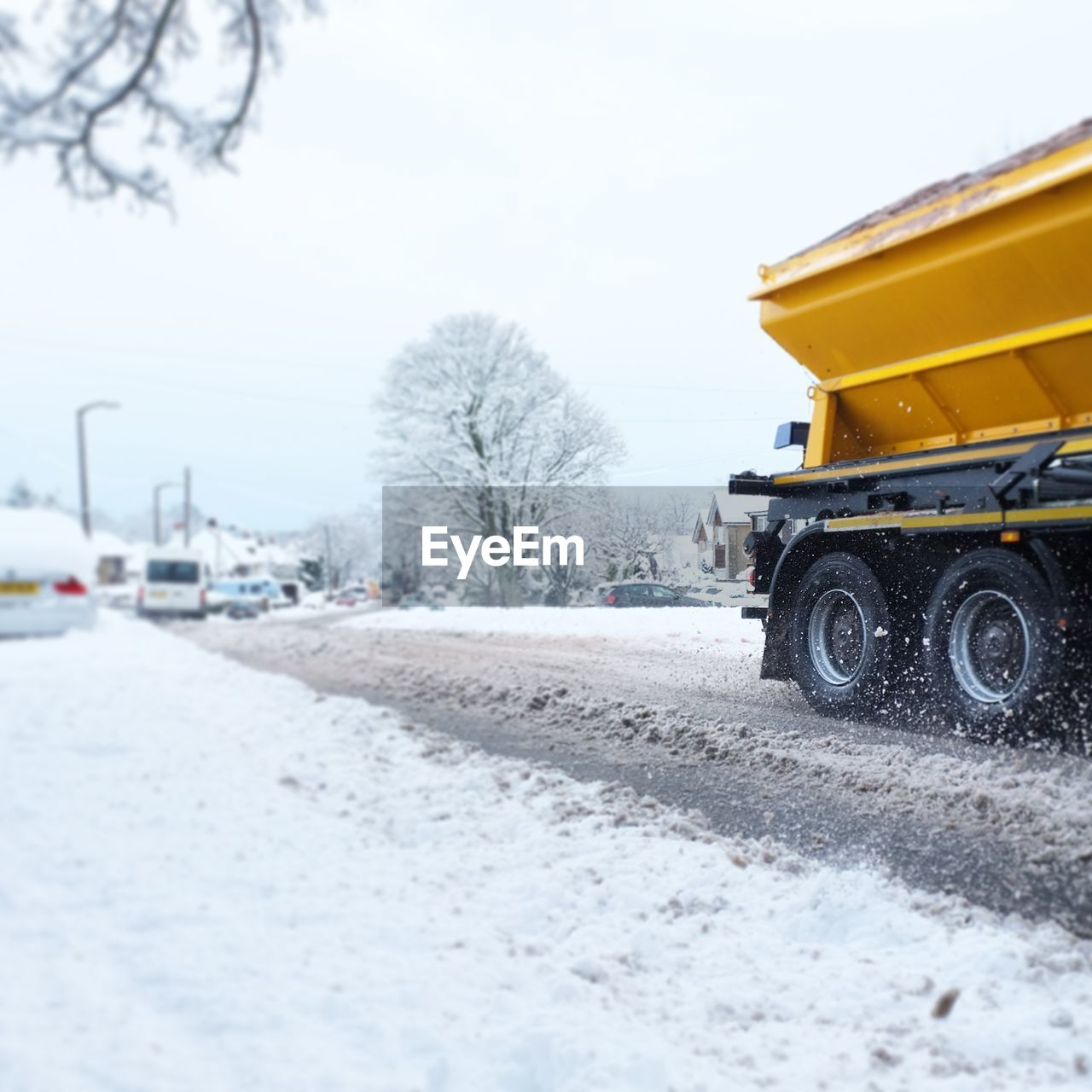 Truck On Road During Winter